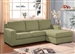 Vogue Reversible Chaise Sectional in Sage Color Fabric by Acme - 05915