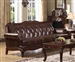 Birmingham Tri-Tone Brown Leather Sofa by Acme - 05945