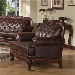 Birmingham Tri-Tone Brown Leather Chair by Acme - 05947