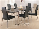 Moderno 7 Piece Dining Set with Tinted Table Glass by Acme - 06805
