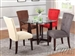 Baldwin 5 Piece Glass Top Espresso Finish Table Set by Acme - 07815