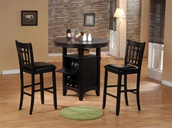 3 Piece Jasper Storage Bar Table Set in Espresso Finish by Acme - 07945