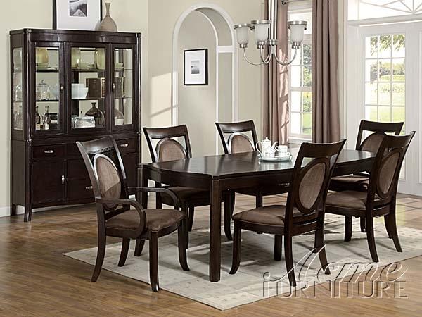 7 piece dining table set cheap vienna dark finish piece dining table set by acme 08320