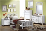 San Marino Mission Panel Bed in White Finish by Acme - 09150T