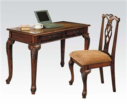 Aristocrat 2 Piece Desk and Chair Set in Brown Cherry Finish by Acme - 09650