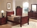 Louis Philippe II 4 Piece Youth Bedroom Set with Hidden Drawers in Cherry Finish by Acme - 09790T-HD