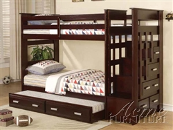 Allentown Twin/Twin Espresso Bunk Bed by Acme - 10170