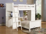 Willoughby White Finish Twin/Twin Loft Bed by Acme - 10970-2