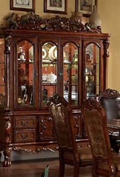 Dresden Buffet and Hutch in Cherry Finish by Acme - 12155