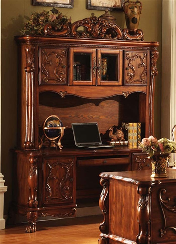 Dresden Home Office Bookcase / Credenza U0026 Hutch In Cherry Finish By Acme    12172
