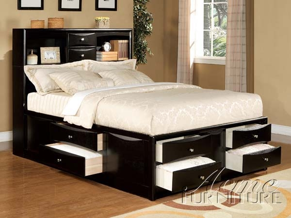 Manhattan 6 Piece Bedroom Set in Black Finish by Acme - 14110Q