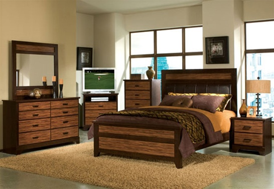 6 Piece Two Tone Finish Bedroom Set by Acme - 14160