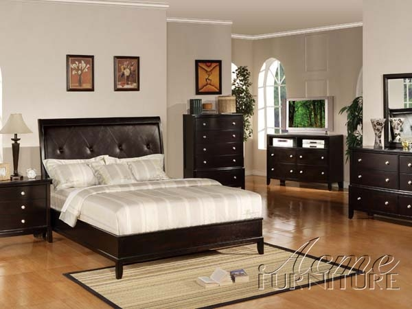 Bedroom Sets Espresso oxford 6 piece bedroom set in espresso finishacme - 14300q