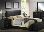 Ireland Black Upholstered Bed by Acme - 14340Q