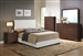 Madison White Upholstered Bed Youth Bedroom Set in Espresso Finish by Acme - 14395