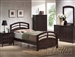 San Marino Panel Bed in Dark Walnut Finish by Acme - 14980T