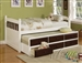 Lowell Sky White & Espresso Captain Bed by Acme - 14990T