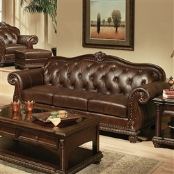 Anondale Brown Leather Sofa by Acme - 15030