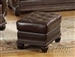 Anondale Brown Leather Ottoman by Acme - 15034