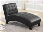 Anna Black Bycast Chaise by Acme - 15036