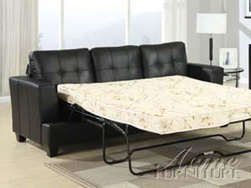 Diamond Black Leather 2 Piece Sleeper Sofa Set by Acme - 15061-S