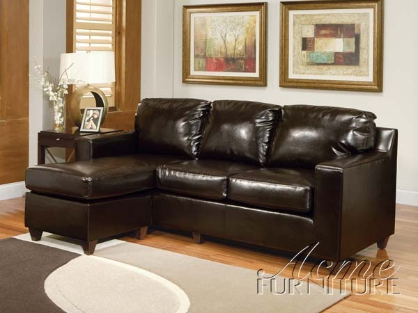 Vogue Reversible Chaise Sectional In Espresso Bycast By Acme 15913 Larger Photo
