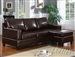 Vogue Reversible Chaise Sectional in Espresso Leather by Acme - 15913-R