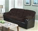 Connell Chocolate Corduroy & Espresso Bycast Sofa by Acme - 15975