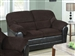 Connell Chocolate & Espresso Bycast Loveseat by Acme - 15976