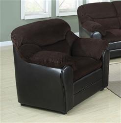 Connell Chocolate Corduroy / Espresso Bycast Chair by Acme - 15977