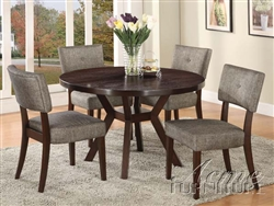 Drake Espresso Finish 5 Piece Dining Table Set by Acme - 16250
