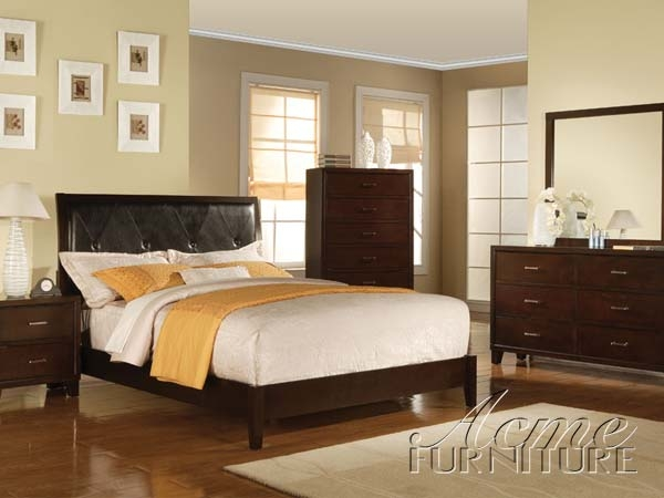 Bedroom Sets Espresso tyler 6 piece bedroom set in espresso finishacme - 19540q