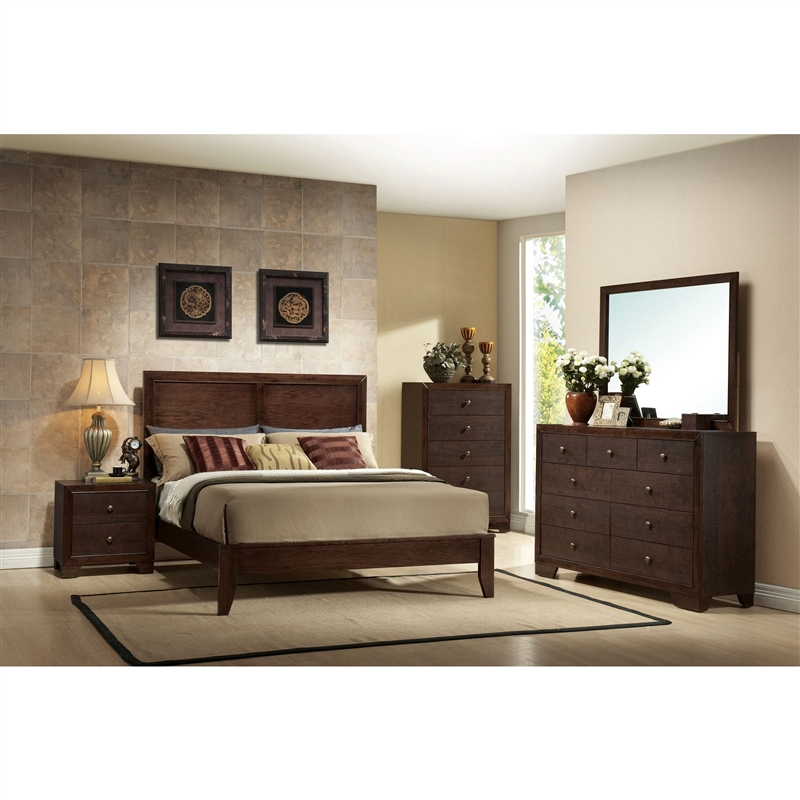 Madison Bed in Espresso Finish by Acme - 19570Q