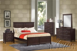 Charleston 6 Piece Panel Bedroom Set in Espresso Finish by Acme - 19590Q