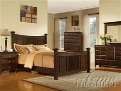 Caja 6 Piece Bedroom Set in Espresso Finish by Acme - 19940Q