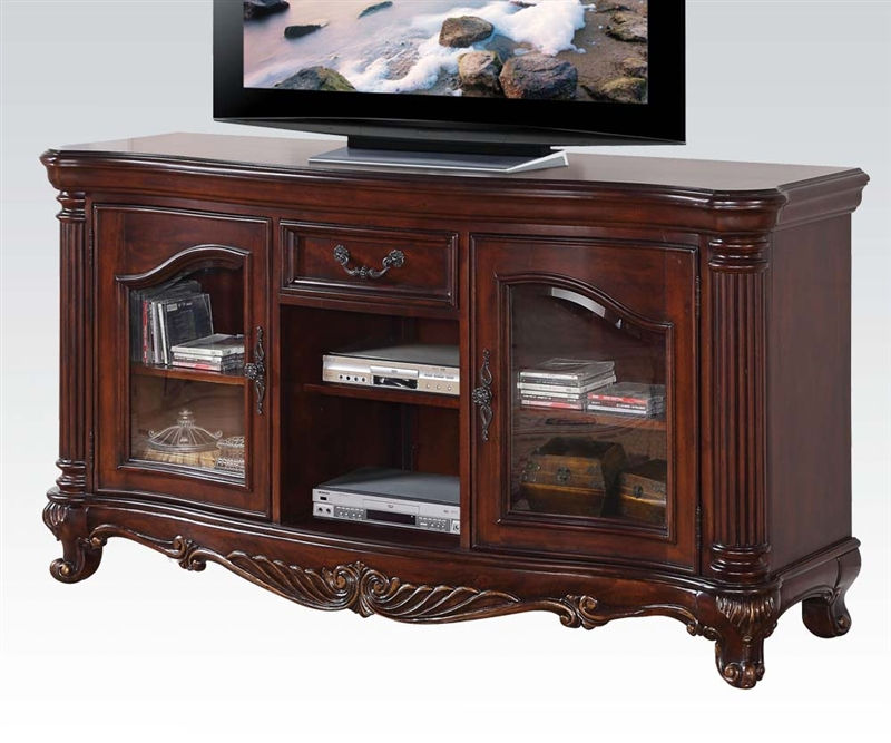 Remington 65 Inch Tv Stand In Brown Cherry Finish By Acme 20278