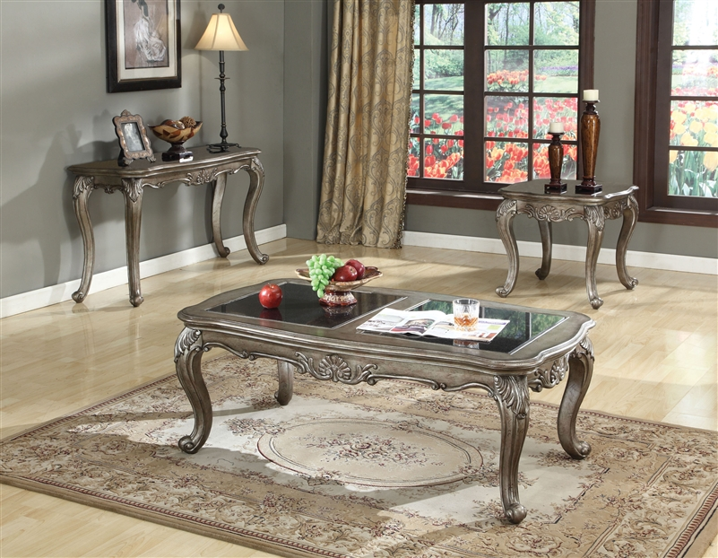 acme furniture bedroom sets.  Chantelle 6 Piece Bedroom Set in Antique Silver Finish by Acme 20540