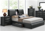 Kofi Storage Upholstered Bed by Acme - 21270Q