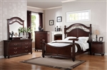 Cleveland 6 Piece Bedroom Set in Dark Cherry Finish by Acme - 21550