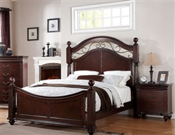 Cleveland Low Post Bed in Dark Cherry Finish by Acme - 21550Q