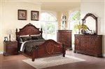 Estrella Low Post Bed 6 Piece Bedroom Set in Dark Cherry Finish by Acme - 21730