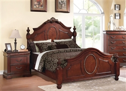 Estrella Low Post Bed in Dark Cherry Finish by Acme - 21730Q
