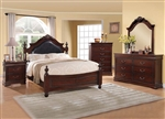 Gwyneth Low Post Bed 6 Piece Bedroom Set in Cherry Finish by Acme - 21880