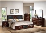 Windsor Storage Bed 6 Piece Bedroom Set in Merlot Finish by Acme - 21910