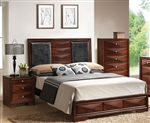 Windsor Platform Bed in Merlot Finish by Acme - 21920Q