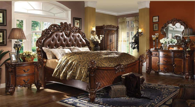 6 Piece Bedroom Set in Cherry Finish by Acme - 22000