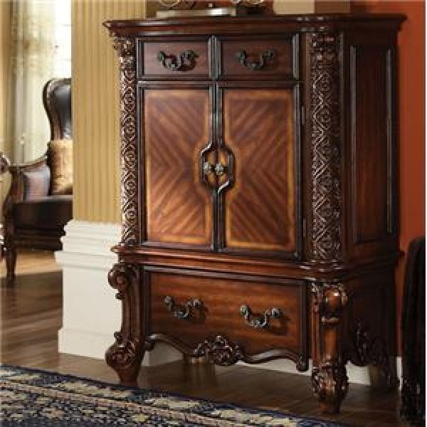 7 piece bedroom set.  Vendome 6 Piece Bedroom Set in Cherry Finish by Acme 22000