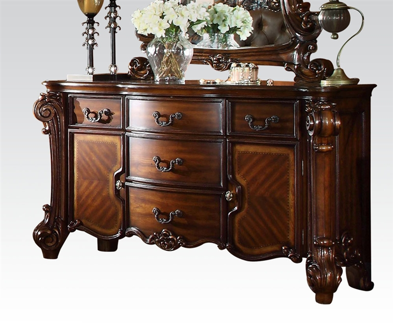 Vendome Traditional Formal Dining Room Cherry Finish: Vendome Buffet In Cherry Finish By Acme