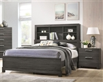 Lantha Bookcase Bed in Gray Oak Finish by Acme - 22030Q