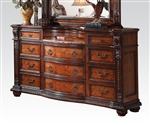 Nathaneal Marble Top Server in Tobacco Finish by Acme - 22315-D